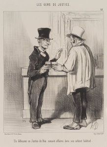 http://commons.wikimedia.org/wiki/File:Brooklyn_Museum_-_A_Defense_Lawyer_at_the_Court_of_Arbitration_Discussing_Business_at_his_Usual_Office_Premises_-_Honoré_Daumier.jpg